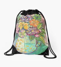 Bright Floral Home Decor Drawstring Bag