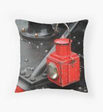 Steam Train Lamp Throw Pillow