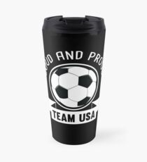 USA National Team Soccer Fan Shirt Travel Mug