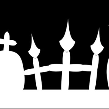 Graveyard Cemetery Graves Halloween by xsylx