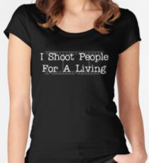 I Shoot People... Women's Fitted Scoop T-Shirt