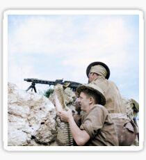 British soldiers in Tunisia, 27 April 1943 Sticker