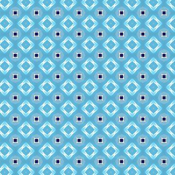 blue diamond pattern by MallsD