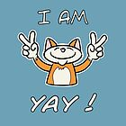 Cute Funny Birthday Cat - I Am 4 Yay! - Ginger Cat by stíobhart matulevicz