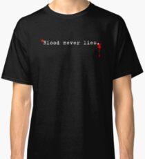 Dexter Series - Blood Never Lies Classic T-Shirt