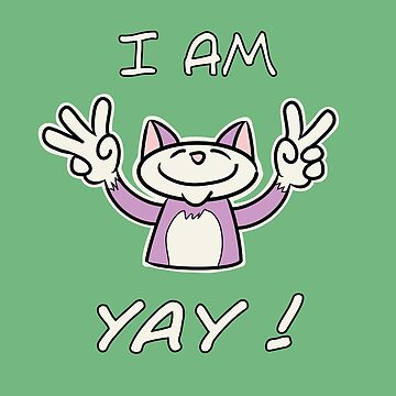 Cute Funny Birthday Cat - I Am 5 Yay! - Pink Cat by madra