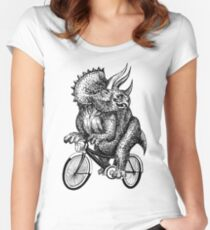 Triceratops Ride Bicycle  Women's Fitted Scoop T-Shirt