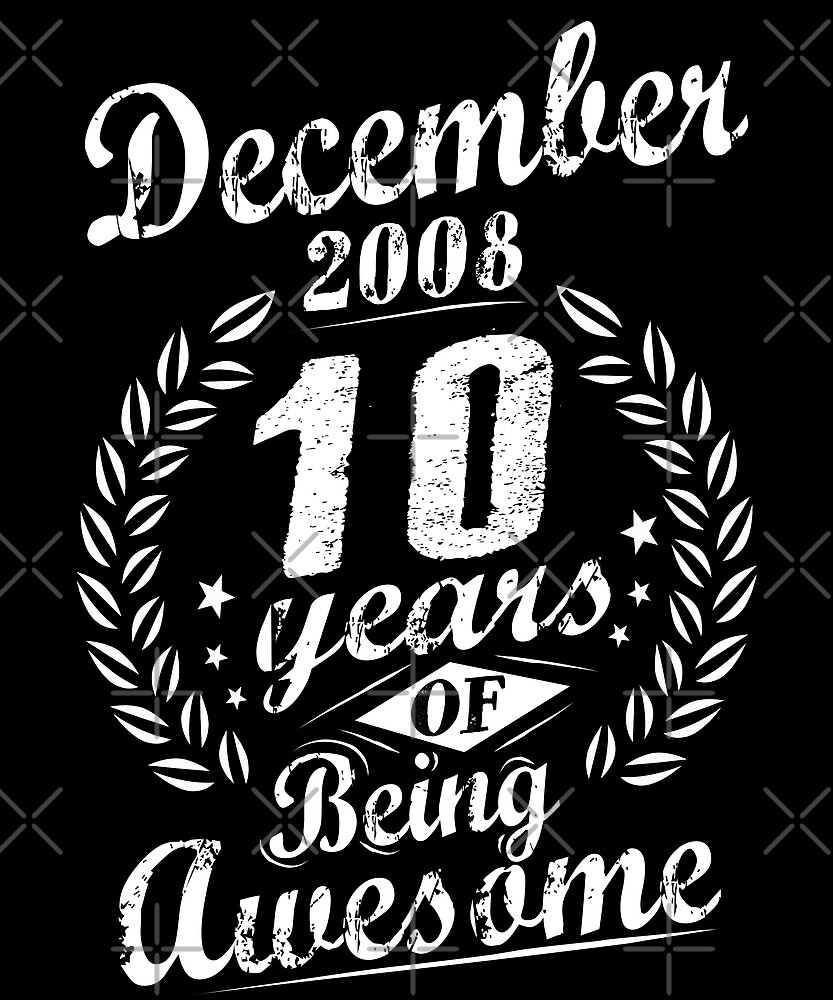 December 2008 Ten Years of Being Awesome 10th Bday by SpecialtyGifts