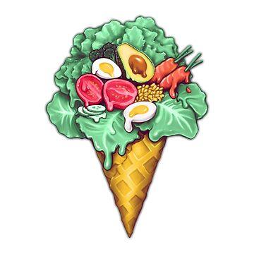 Ice Cream Salad T-Shirt - Fitness Diet T-Shirt by HeyZReD