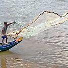 Tonlé Sap Fisherman by V1mage