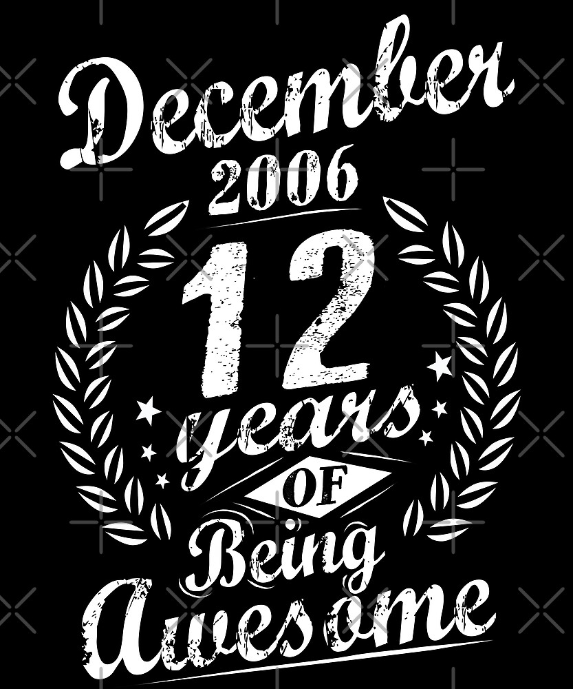 December 2006 12 Years of Being Awesome 12th Bday by SpecialtyGifts