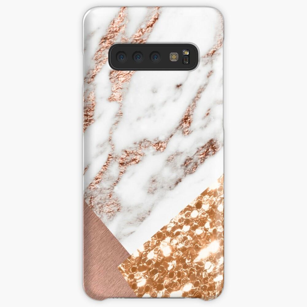Layered rose gold Case & Skin for Samsung Galaxy