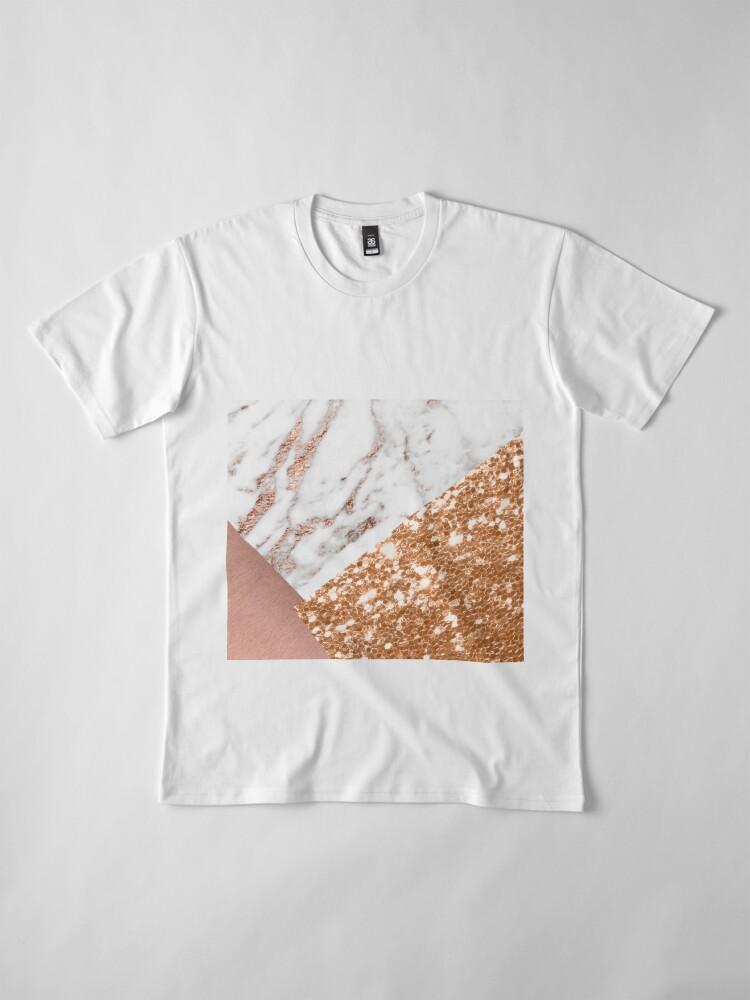 Vista alternativa de Camiseta premium Oro rosa en capas