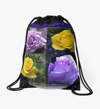 Exquisite Roses Collage Turnbeutel