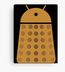 Droidarmy: Dalek - Dalek Gold Sticker Canvas Print