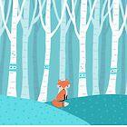 Fox - Birch Forest by Cristina Bianco Design