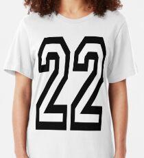 22, TEAM, SPORTS, NUMBER 22, TWENTY, TWO, Twenty Second, Competition,  Slim Fit T-Shirt