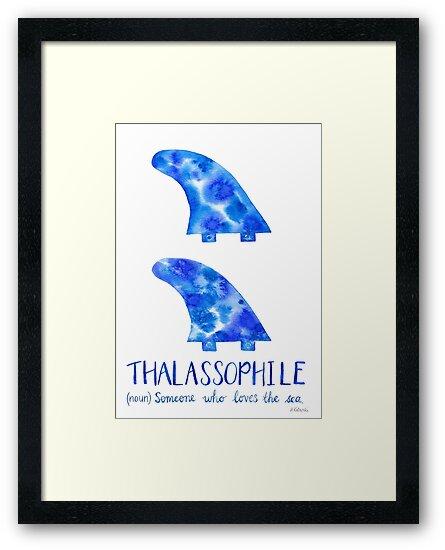 Surfboard Fins - Thalassophile by MermaidsCoin