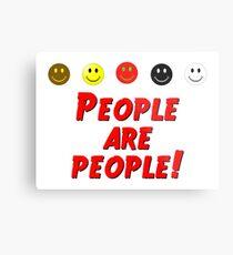 Leute sind Leute Metalldruck