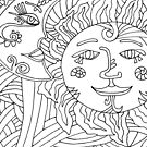 Sun and Moon Color Art by Deb Coats