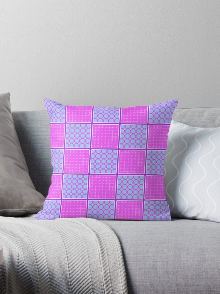 PINK AND AQUA CHECK DESIGN FOR ACCENTS IN HOME DECOR by ozcushionstoo