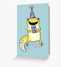 Leopard Gecko Geburtstag Grußkarte