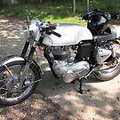 Clasic British Motorbike by John Thurgood