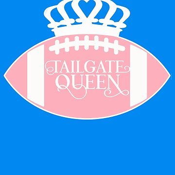 Tailgate Queen Football Shirt for Women Crown Pink Tailgating BBQ Fun by funnytshirtemp