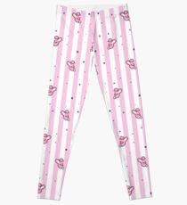 BT21 Cooky gestreiftes Pyjama-Muster Leggings