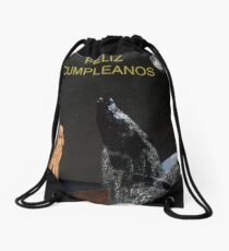 Scream with Humpback Whale Spanish Drawstring Bag