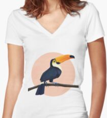 Tropical Toucan Fitted V-Neck T-Shirt