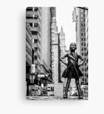 Fearless Girl  New York City Canvas Print
