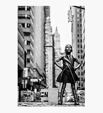 Fearless Girl  New York City Photographic Print