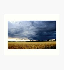 Thunderstorm in England Art Print