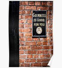 Guinness is good for you Poster