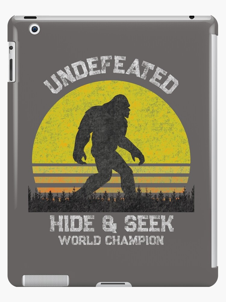453748ad3bb7 Funny Bigfoot T Shirt - Funny Sasquatch T Shirts - Hide & Seek World  Champion Shirt