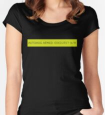 LCD: Autohug  Armed Women's Fitted Scoop T-Shirt