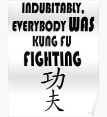 Indubitably, Everybody WAS Kung Fu Fighting Poster