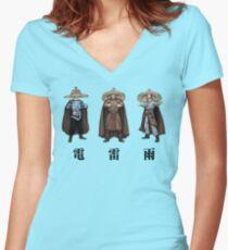 3 Stürme - 電 雷 雨 - Große Probleme in Little China 1986 Shirt mit V-Ausschnitt