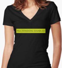 LCD: Multitasking Disabled Women's Fitted V-Neck T-Shirt