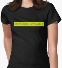 LCD: Speech Mode: Autogabble Womens Fitted T-Shirt