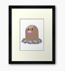 Digett Pokemon Simple No Borders Framed Print