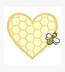 Honey Hearted Photographic Print