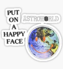 Astroworld Put On A Happy Face logo Sticker