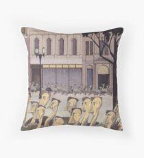 AR01-Emus homeward on Collins Street Throw Pillow