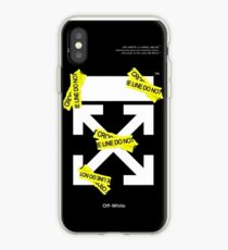 Off White Line Cross iPhone Case