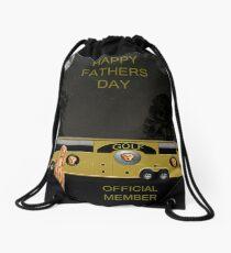 Golf  World Tour Scream Happy fathers Day Drawstring Bag