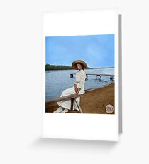 Grand Duchess Tatiana Nikolaevna of Russia in Finland - Colorized Greeting Card