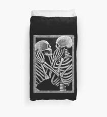 Skeleton Lovers Crop Duvet Cover