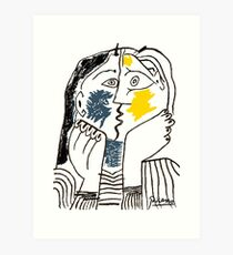 Pablo Picasso Kiss 1979 Artwork Reproduction For T Shirt, Framed Prints Art Print